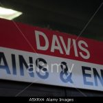 Sign for entrance to Davis Square subway station